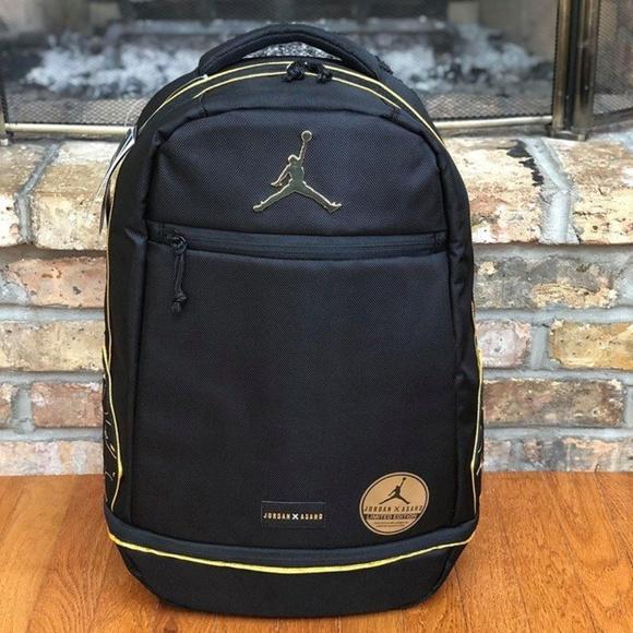 bb463bc64dc0 Nike Jordan- ASAHD X Jumpman Black Gold Backpack